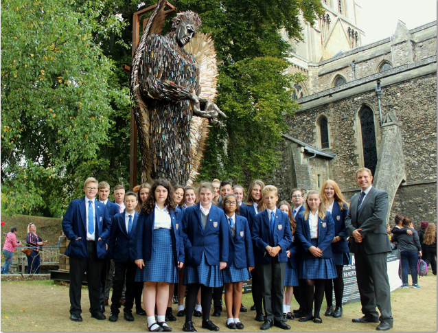 Aylesford visit the Knife Angel