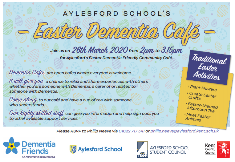 Easter Dementia Cafe - Thursday 26th March