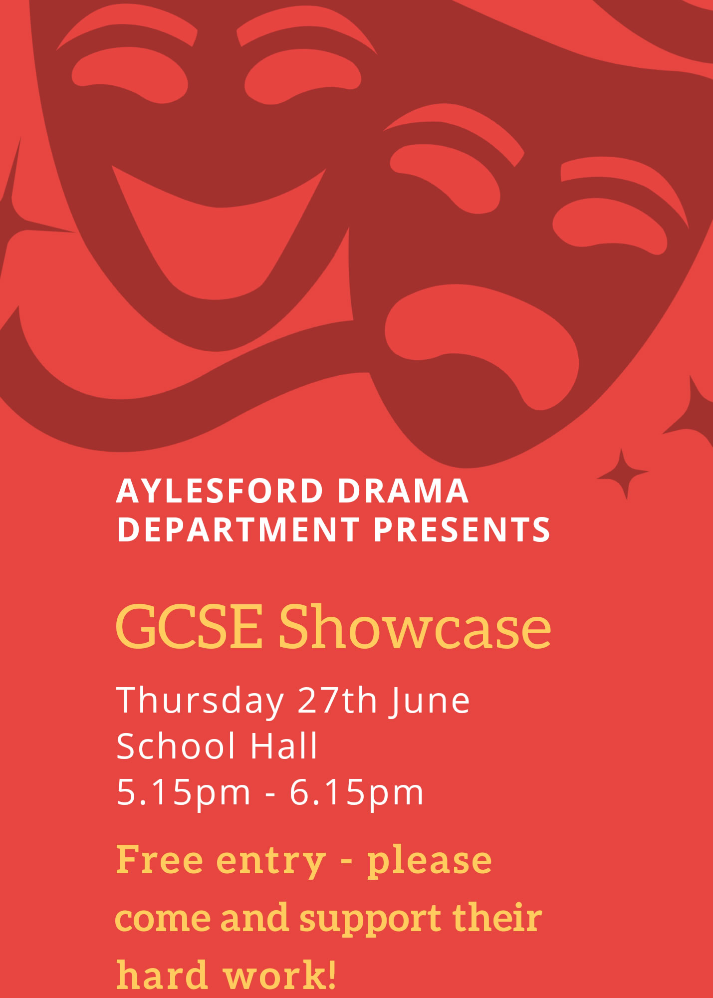 GCSE Drama Showcase - Thursday 27th June